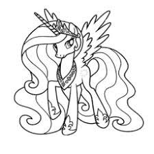 coloring fancy coloring pages pony princess luna