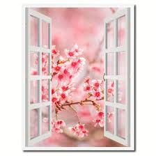 cherry blossom beautiful flower picture window wall art home decor cherry blossom beautiful flower picture french window canvas print with frame gifts home decor wall art collection