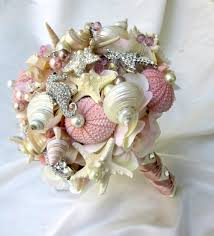 wedding bouquets with seashells reserve blush bridal seashell bouquet and bridal