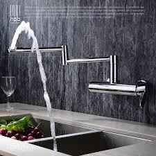 robinet de cuisine mural hpb contemporain en laiton pliant cuisine mitigeur évier robinet
