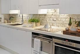 cuisine brique design interieur crédence cuisine brique blanche armoires