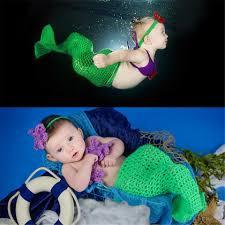 infant girl costumes newborn baby girl crochet mermaid photography props infant