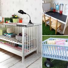 repurpose a crib into a bookshelf desk etc diy pinterest