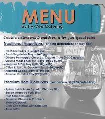 custom catering menu pinot u0027s palette
