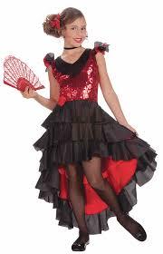 Girls Halloween Costumes Kids Tango Halloween Costumes Girls Spanish Dancer Girls Costume