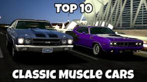 Gran Turismo 6 Top 10 Fastest Classic Muscle Cars Around A