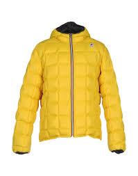 k way down jacket yellow men coats and jackets k way jackets sale