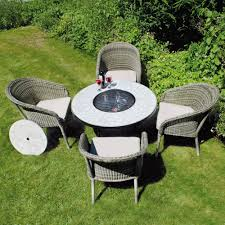 Glass Fire Pit Table Add More Comfort And Relax Outdoor Space With Fire Pit Table Set