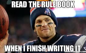 Finish It Meme - read the rule book when i finish writing it meme custom 18804