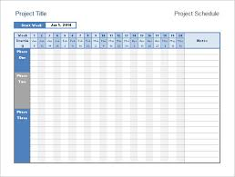 Project Schedule Template Excel 8 Calendar Timeline Templates Free Sles Exles Format