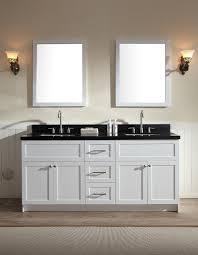 White Double Sink Bathroom Vanities by Ariel Hamlet 73