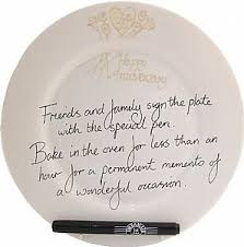 anniversary plate 30th wedding pearl anniversary plate flower rd