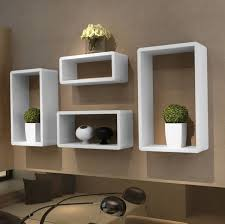 Modern Wall Bookshelves Wall Bookshelf Modern Light Blue Color - Bedroom shelf designs