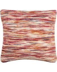 Red Decorative Pillow Great Deal On Safavieh 20 Inch Tight Weave Rainbow Red Decorative