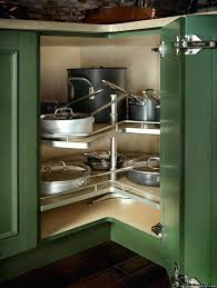 Kitchen Corner Cabinet Storage Solutions Kitchen Cabinets Corner Solutions Chic Corner Kitchen Storage