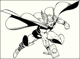 Free Printable Hammer Coloring Pages Color Zini Thor Coloring Page