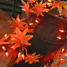 maple leaf garland with lights 2 pcs outdoor string lights maple leaf garland string 150 lights 9