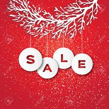 sale for promotion discount paper cut baubles carve