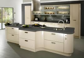 Kitchen Hood Island by Engaging Notched Shape Cream Kitchen Island With Stainless Steel