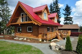 model log home on vancouver island