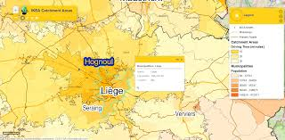 Ikea World Map Ikea Stores And Their Catchment Areas In The Benelux Countries