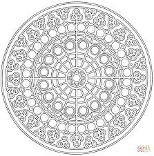 celtic mandala with circle pattern coloring page free printable
