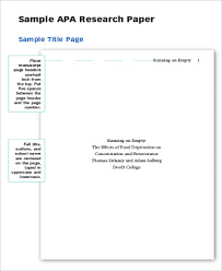 apa cover page template apa format essay example image of an