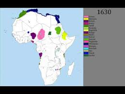 africa map by year history of africa