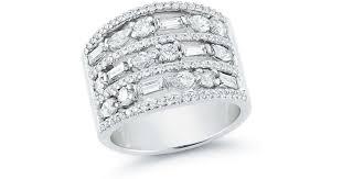 Ivanka Trump Wedding Ring by Ivanka Trump Mixed Cut Diamond Wide Band Ring In Metallic Lyst
