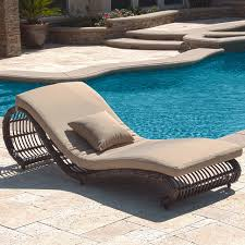Outdoor Reclining Chaise Lounge Kauai Outdoor Wicker Pool Chaise Lounge Chair Set Of 2 Modern