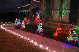 Lighted Christmas Outdoor Decorations by Outdoor Christmas Yard Decorating Ideas Tree Stakes Mini