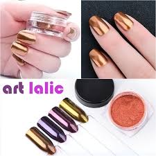 aliexpress com buy 2g box shinning rose gold purple copper nail