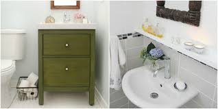 Corner Sinks For Bathrooms 11 Ikea Bathroom Hacks New Uses For Ikea Items In The Bathroom