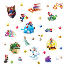roommates 871scs nintendo mario galaxy 2 peel and stick wall roommates 871scs nintendo mario galaxy 2 peel and stick wall decals wall decor stickers amazon com