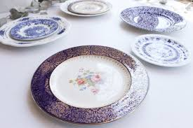southern vintagevintage chinaclassic collection blue plates