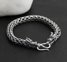 dragon bracelet silver images Handmade thailand 925 silver dragon bracelet for men handmade jpg