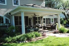 Backyard Porches Patios - open air backyard porch traditional porch detroit