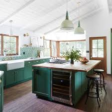 green kitchen cabinets you ll want an emerald green kitchen after seeing this