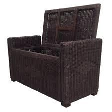 chest storage ottoman adam color dark brown with cushion handmade