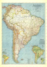South America Map by 1942 South America Map Historical Maps