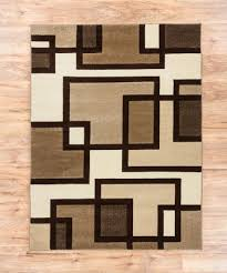 Squares Area Rug Uptown Squares Ivory Brown Modern Geometric Comfy Casual