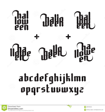 halloween lettering stock vector image 58946363