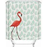 amazon com tropical pink flamingo novelty fabric shower curtain