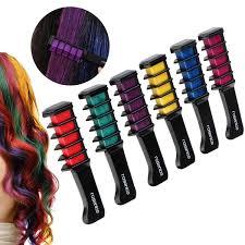 Hair Color Wheel Chart Amazon Com Huez Temporary Hair Chalk Set Of 4 Colors Beauty