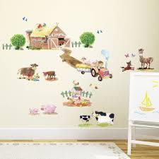 Nursery Rhyme Wall Decals Pony Club Farm Animals Peel And Stick Nursery Wall Vinyl