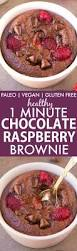 healthy 1 minute chocolate raspberry brownie paleo vegan gluten