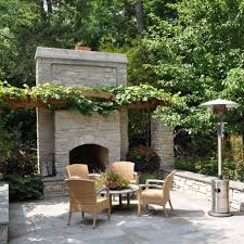 fireplace outdoor fireplace design which made of stone with