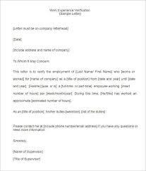Certification Letter Sle Format Employment Verification Letter Templates Free U0026 Premium