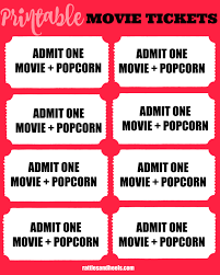 admit one home theater family movie night with printable movie tickets giveaway closed