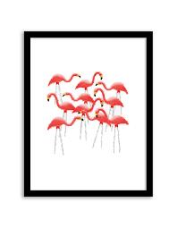 free printable bird wall art free printable flamingo flock wall art